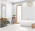Comfortable and clean, this modern minimalist bathroom design can be an option