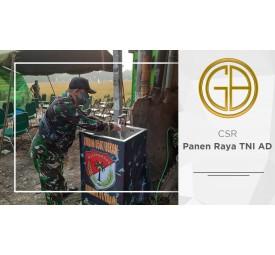 Panen Raya in the framework of Food Security Bin TA. 2020 Kodim 0507 / Bks